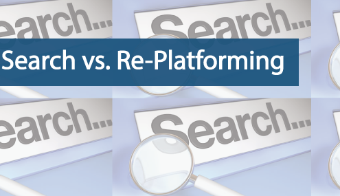 site search versus replatforming