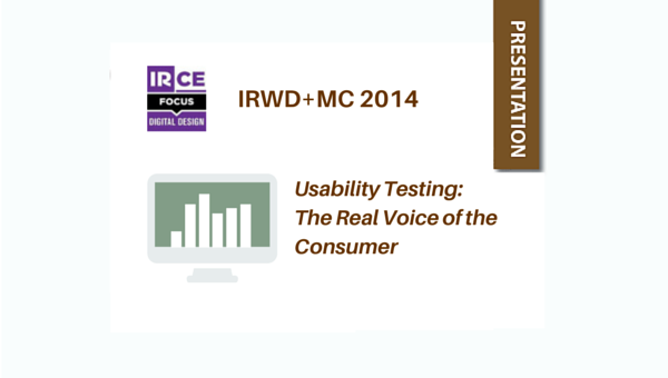usability testing the real voice of the consumer