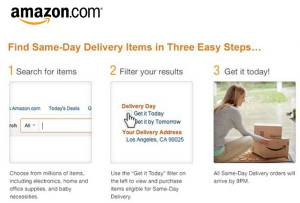 same day delivery - amazon